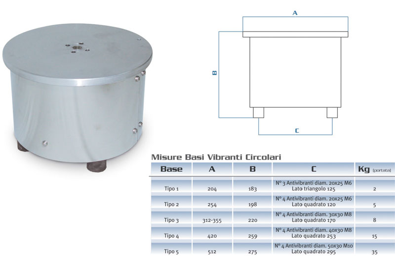 Vibrating circular base online
